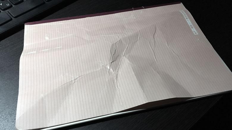 実際に僕がぐちゃぐちゃにしてしまったノート